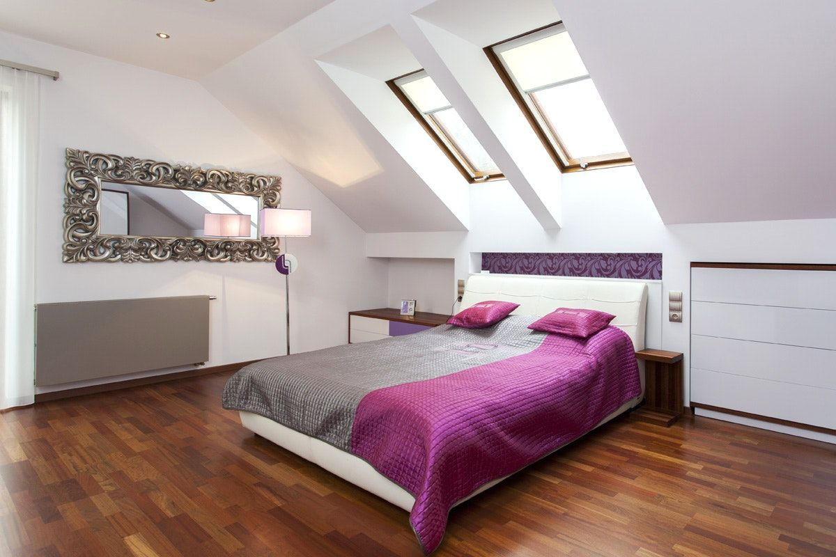 Zimmer Mit Dachschr\u00e4ge Gestalten Tapete Schlafzimmer