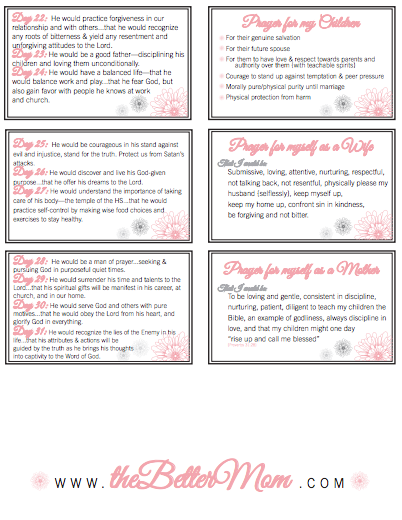 Organize Your Prayer Time {Happy Motheru0027s Day! Free Printable Prayer Cards} Regarding Prayer Card Template Free