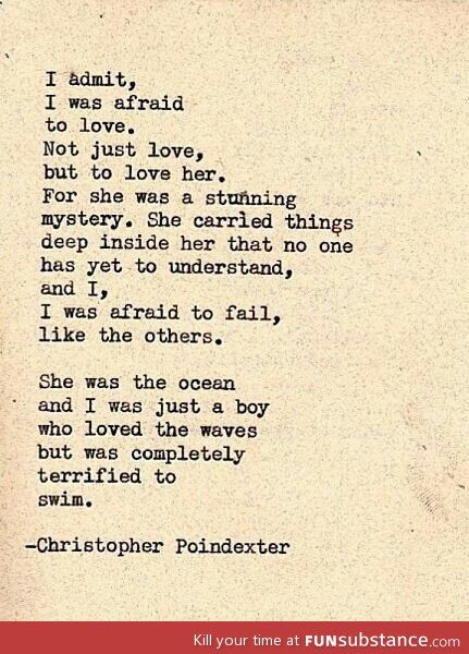 She Was The Ocean And I Was Just A Boy Who Loved The Waves... - FunSubstance