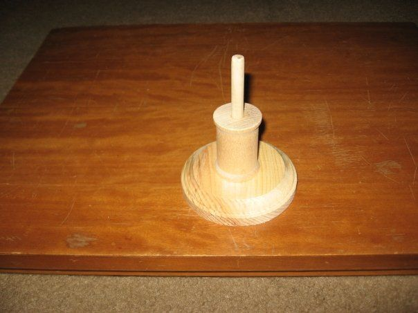 Homemade Montessori. Vertical threading. Made by Summer
