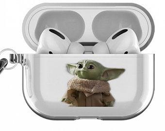 Baby Yoda Apple Airpod Case Etsy Ca In 2020 Airpod Case Yoda