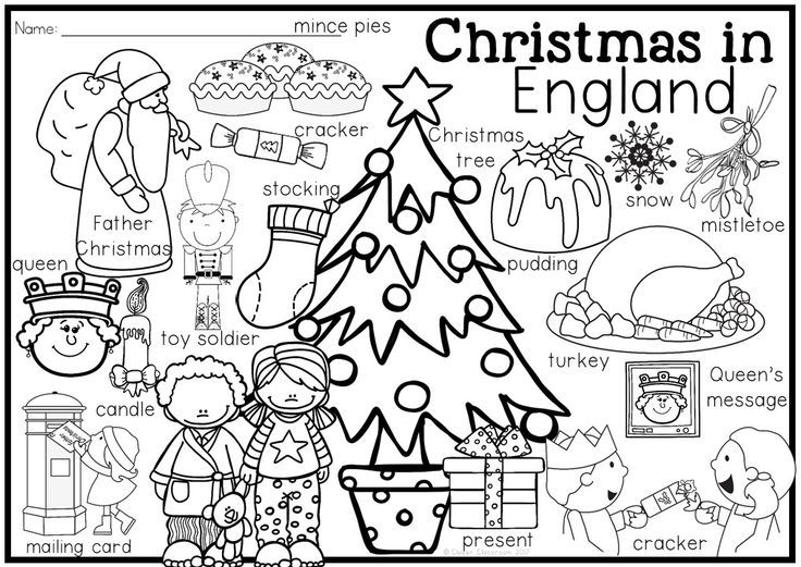 Image result for children coloring christmas around the