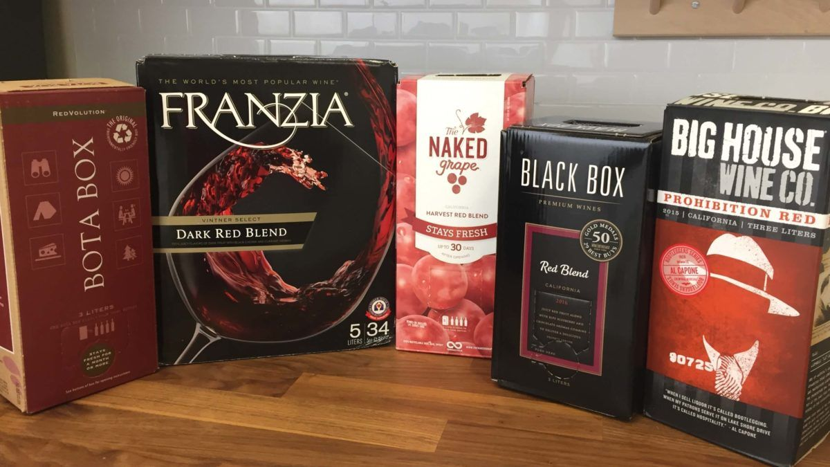 We Tried 5 Brands To Find The Best Boxed Wine Wine Box Wine Gifts Wine In The Woods