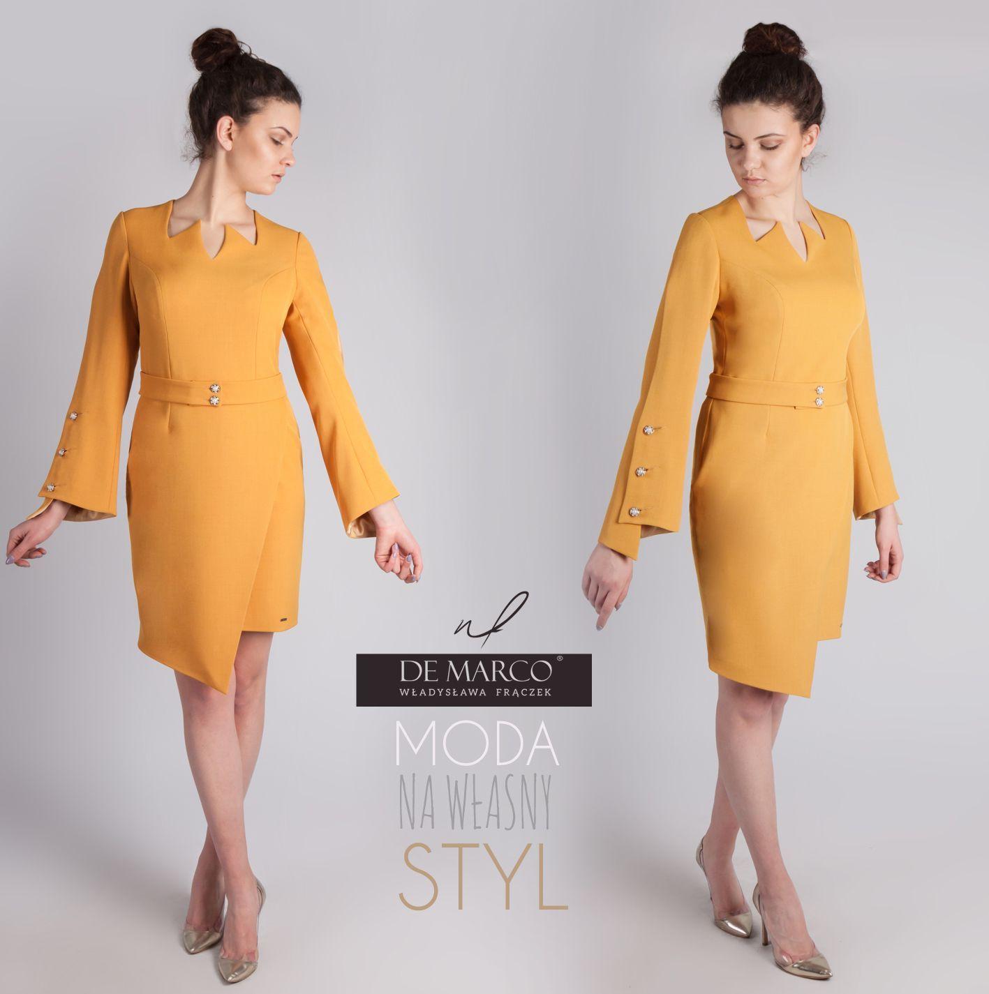 936485339e Strój biznesowy damski. Sklep internetowy De Marco sukienki biznesowe na  rok 2019