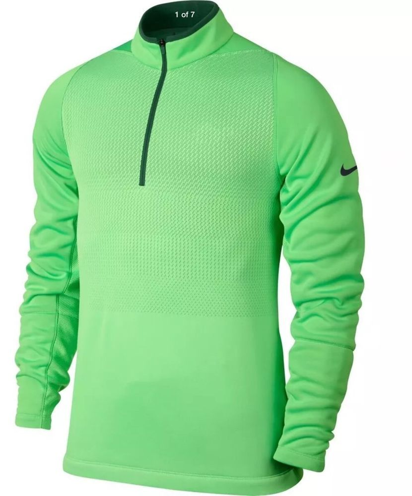 Nike Golf Men S Half Zip Pullover Tour Performance 704566 340 Therma Fit Sz Xl Nike Nike Clothes Mens Nike Golf Men Golf Outfit [ 1000 x 830 Pixel ]