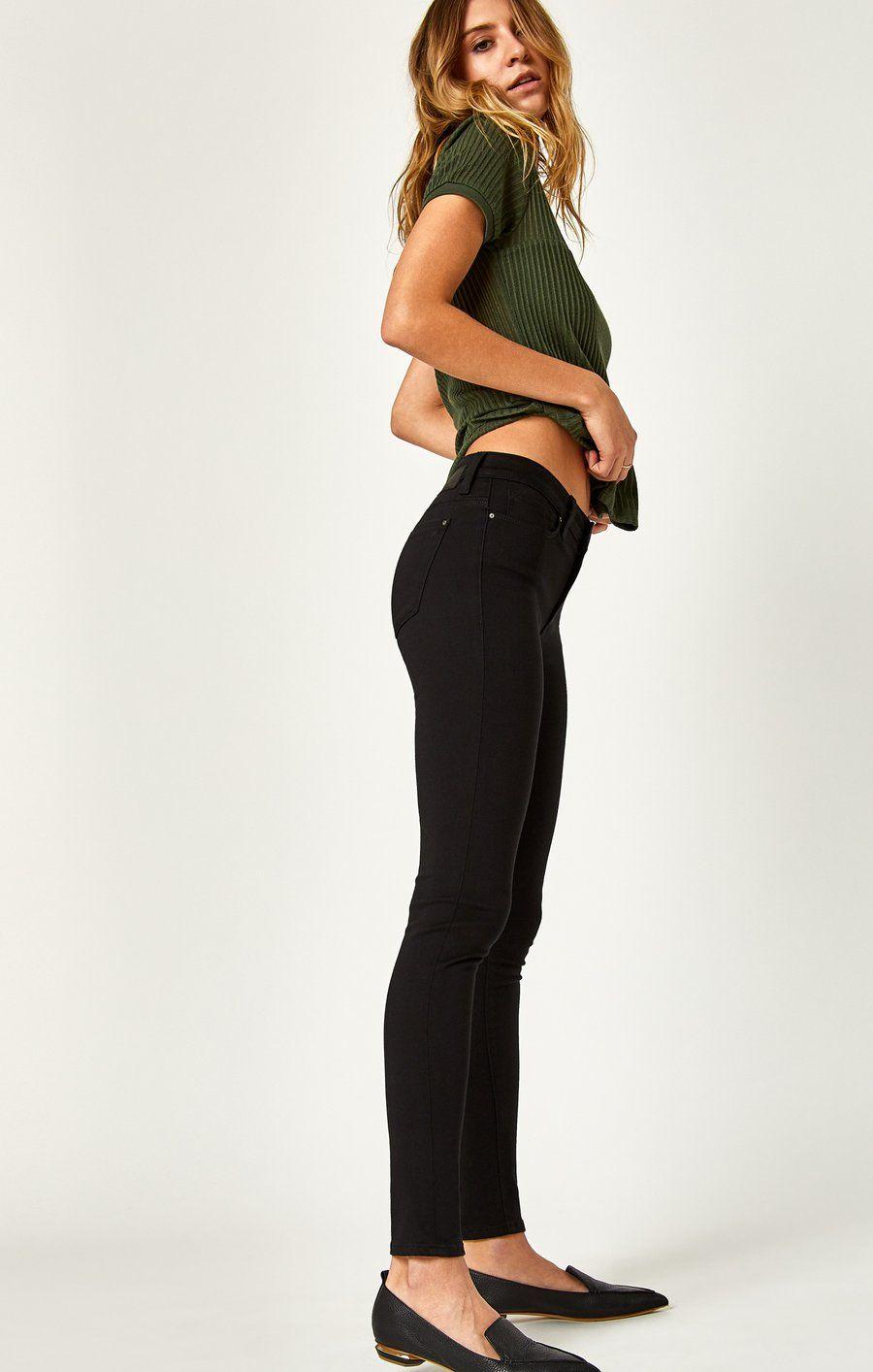 Alissa super skinny in jet black black jeans women