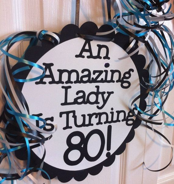 80th Birthday Decorations Giant Personalized Party Signs 80th