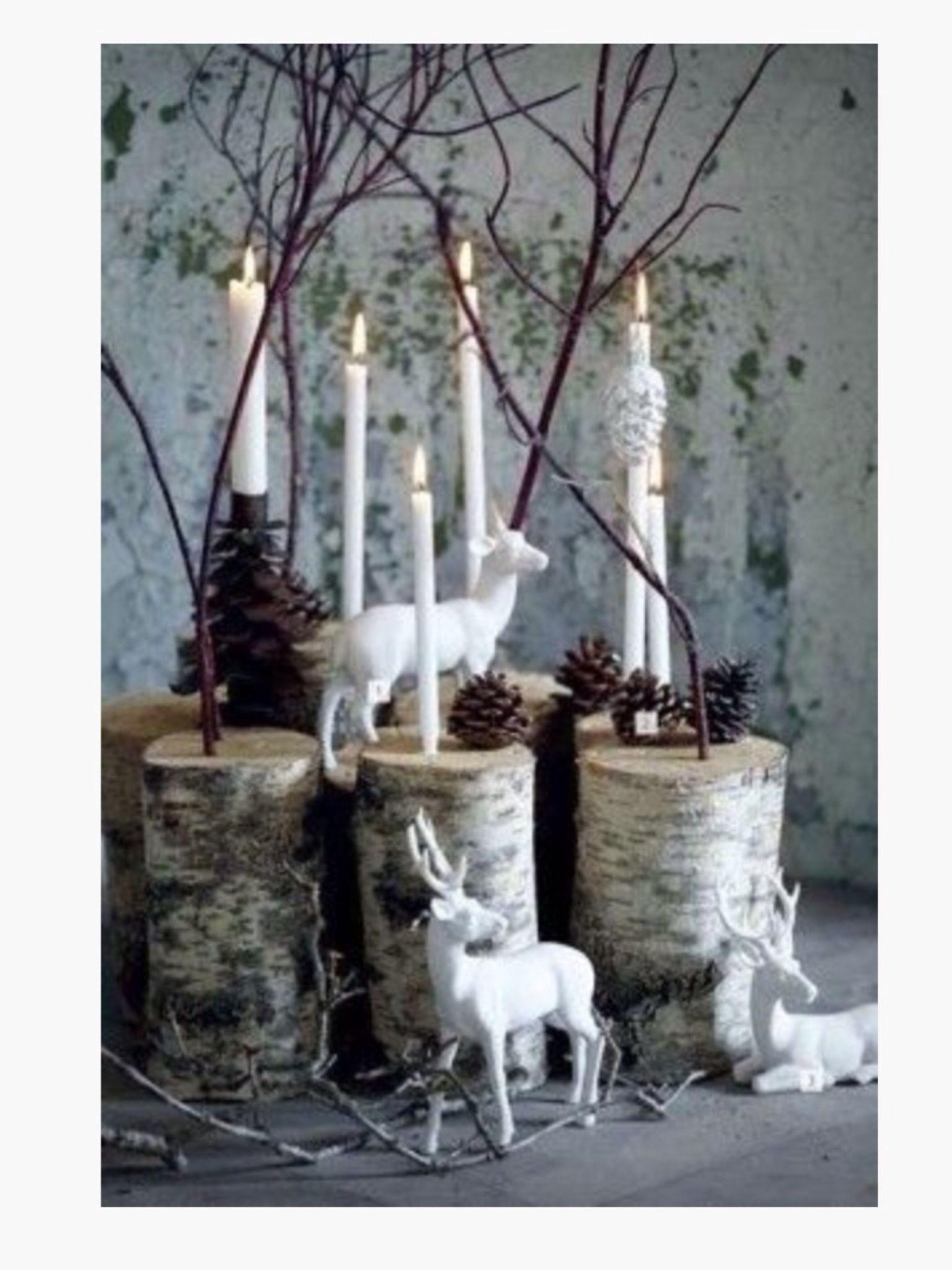 woodland christmas decorating ideas | Pin it Like Image