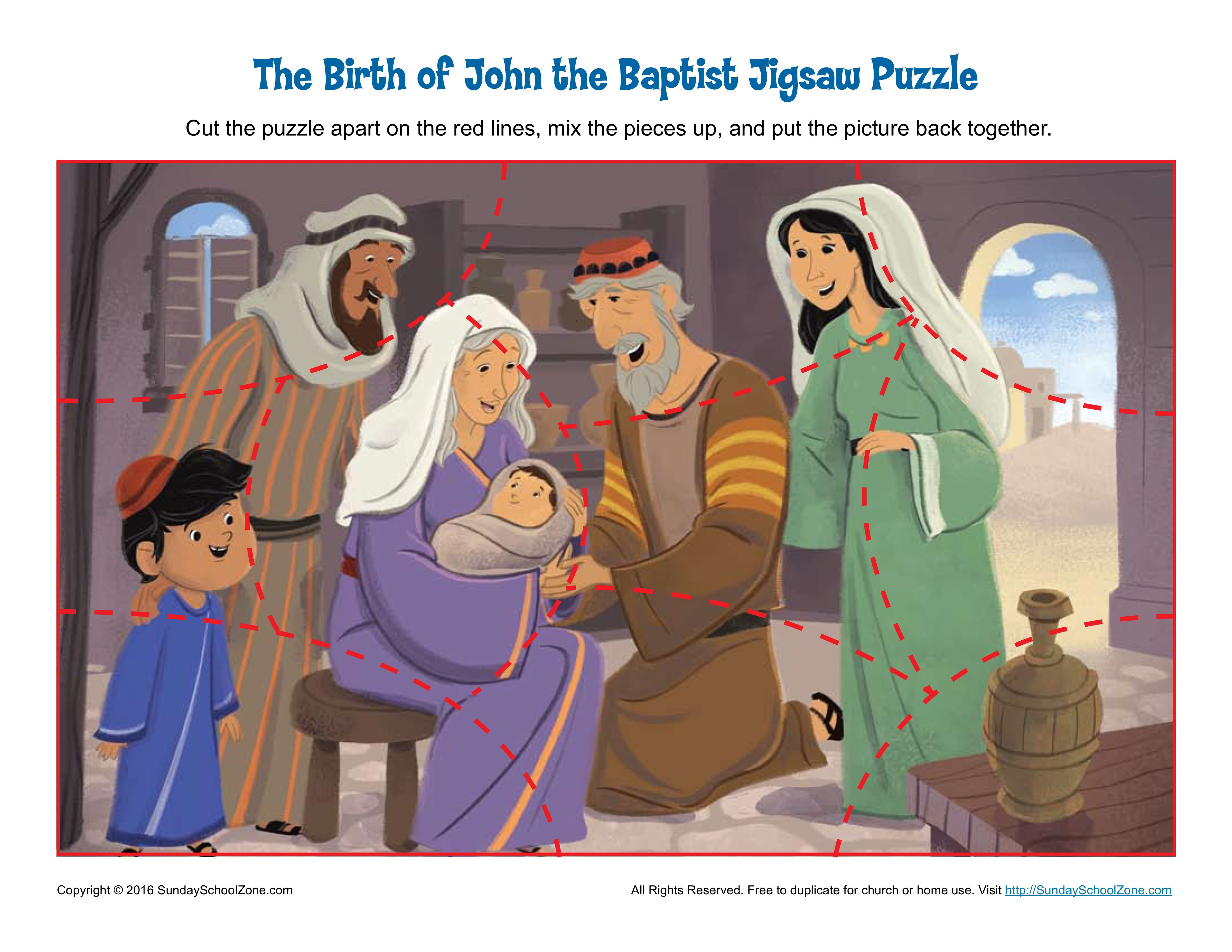 The Birth Of John The Baptist Jigsaw Puzzle