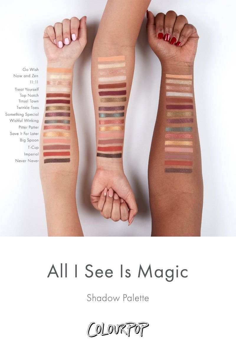 All I See Is Magic Pressed Powder Eyeshadow Palette Arm Swatches