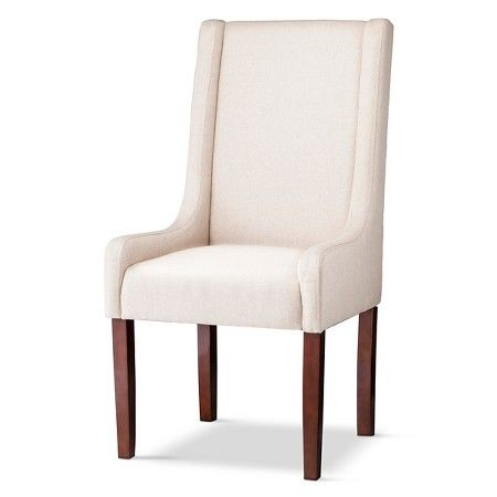 Charlie Modern Wingback Swoop Arm Dining Chair Wood