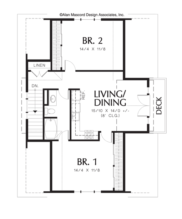 Garage Apartment Plans 2 Bedroom: Houseplans.co Carriage House 908sf