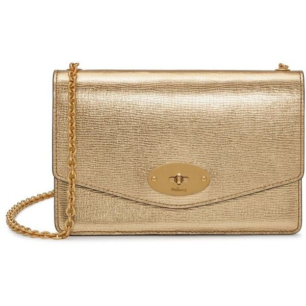 f1560eb1a0d Mulberry Small Darley ($800) ❤ liked on Polyvore featuring bags, handbags,  gold, chain strap purse, mulberry handbags, mini purse, chain handle  handbags ...
