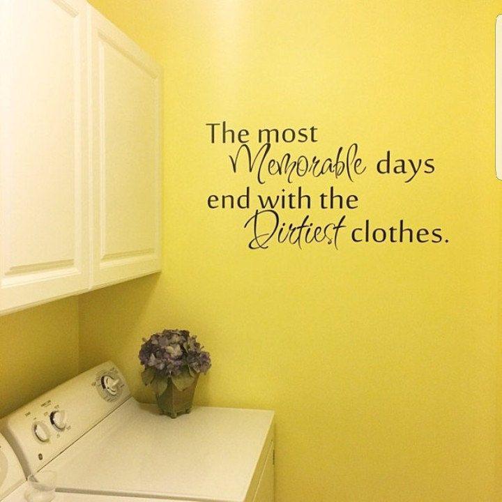 Laundry room decor - wall art - matt vinyl decal - laundry sign ...