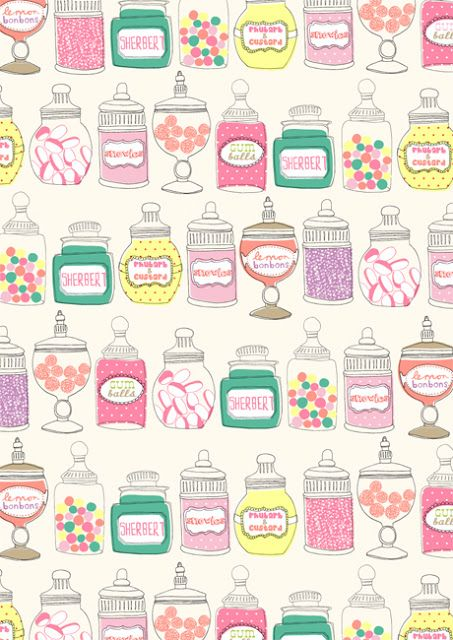 Candy Shop Paperie Wallpaper Iphone Wallpaper Pattern