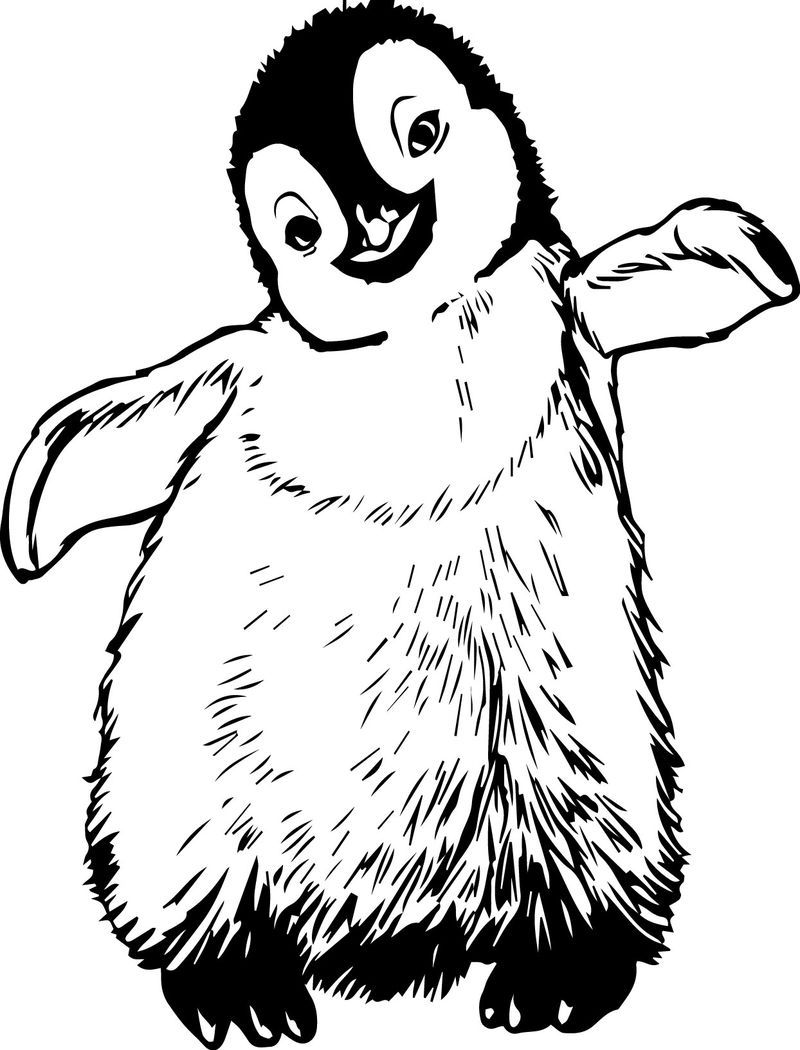 Happy Feet Coloring Pages  Cute coloring pages, Coloring pages