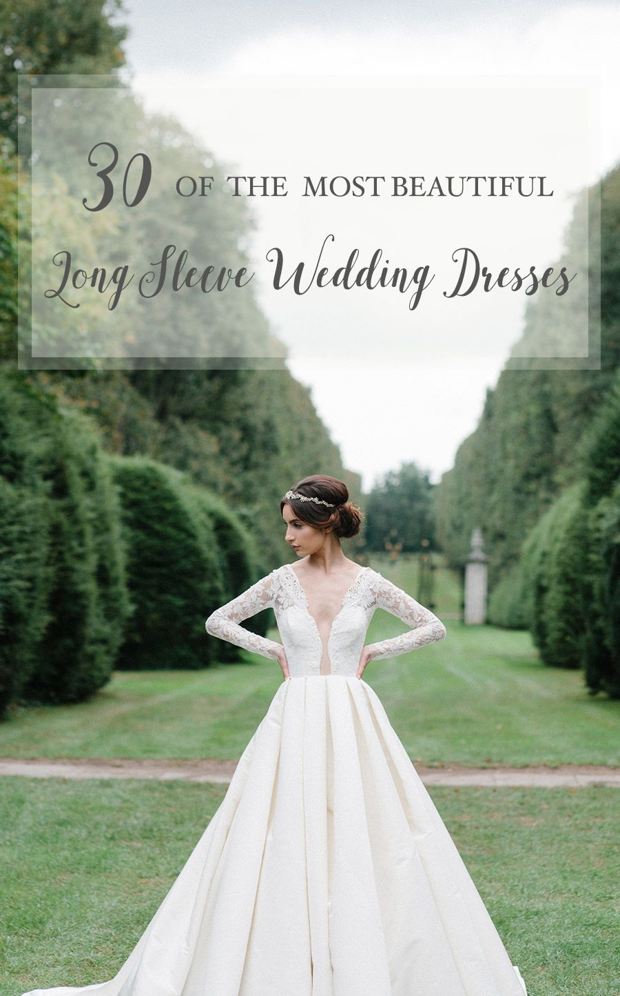 30 of the Most Beautiful Long Sleeve Wedding Dresses for 2016 ... 1de1230f35b