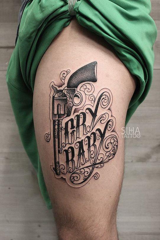 Crying Baby Tattoo: Tattoo. Cry Baby Gun
