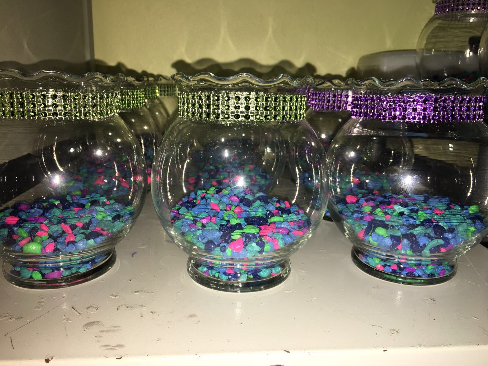 Peceras centro de mesa decoracion sirena little mermaid - Peceras pequenas decoradas ...