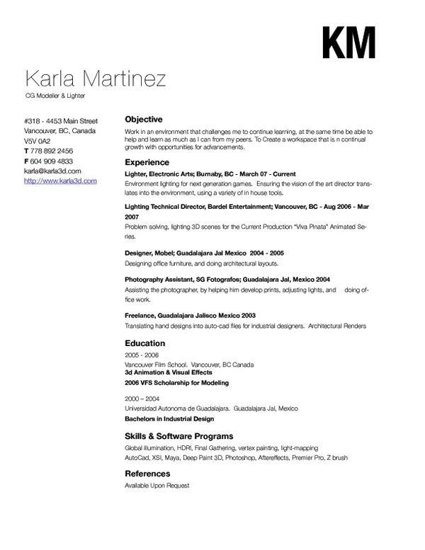 by Karla Martinez Fonts Pinterest Simple resume, Creative cv - make me a resume free
