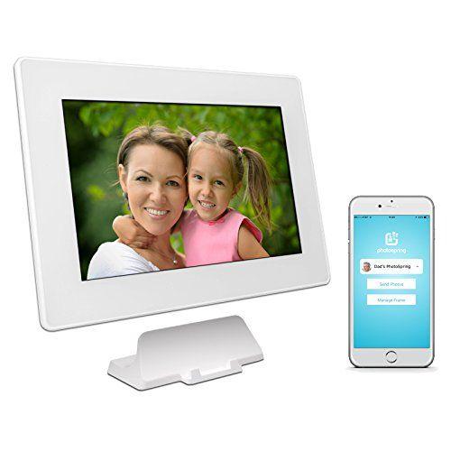 PhotoSpring (16GB) 10in WiFi Digital Photo Frame for Vide... https ...