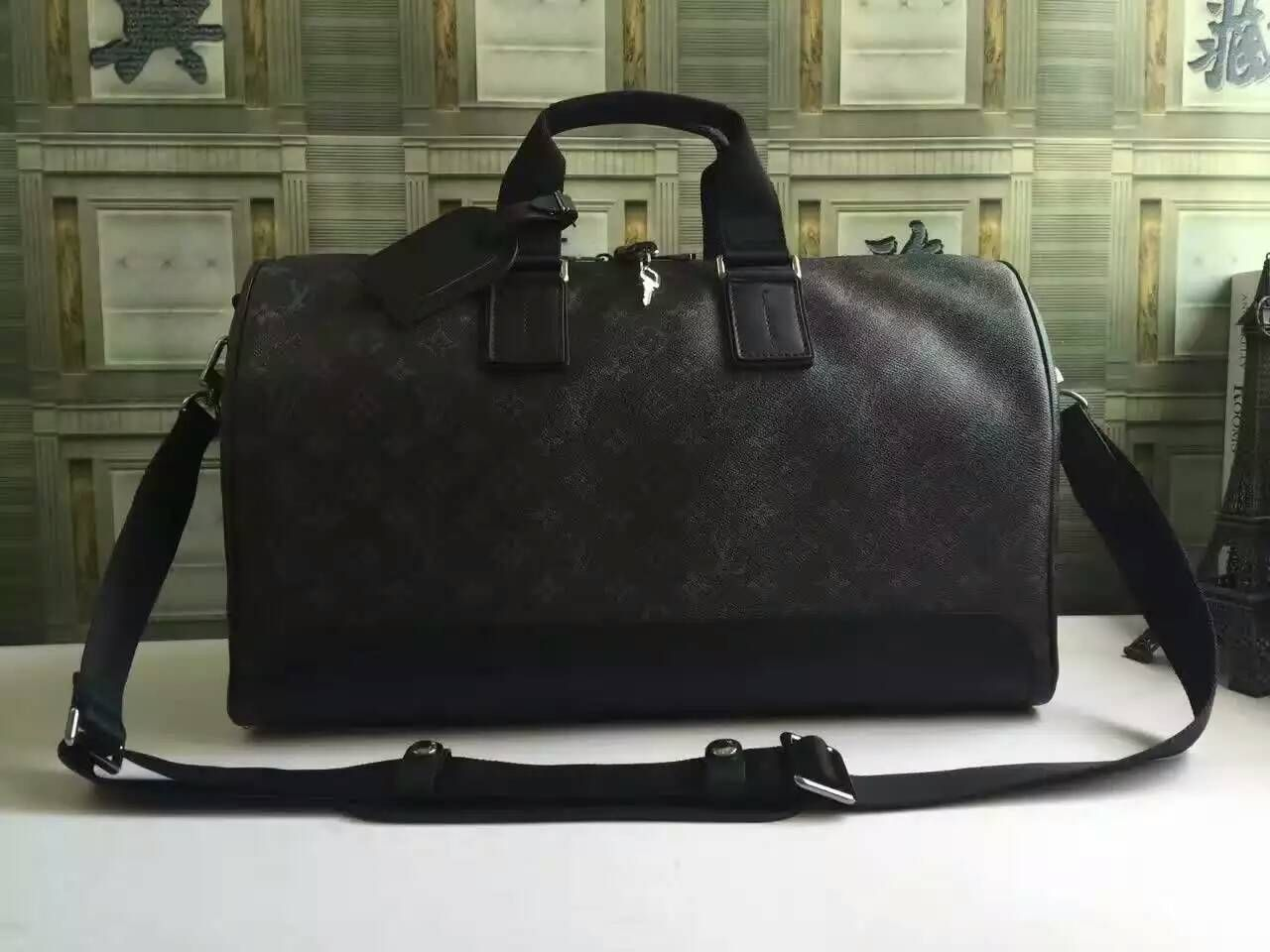 95e887f41 LV Keepall Voyager Designer weekender bag in monogram eclipse canvas M43038  size:45x27x20CM G4 whatsapp:+8615503787453