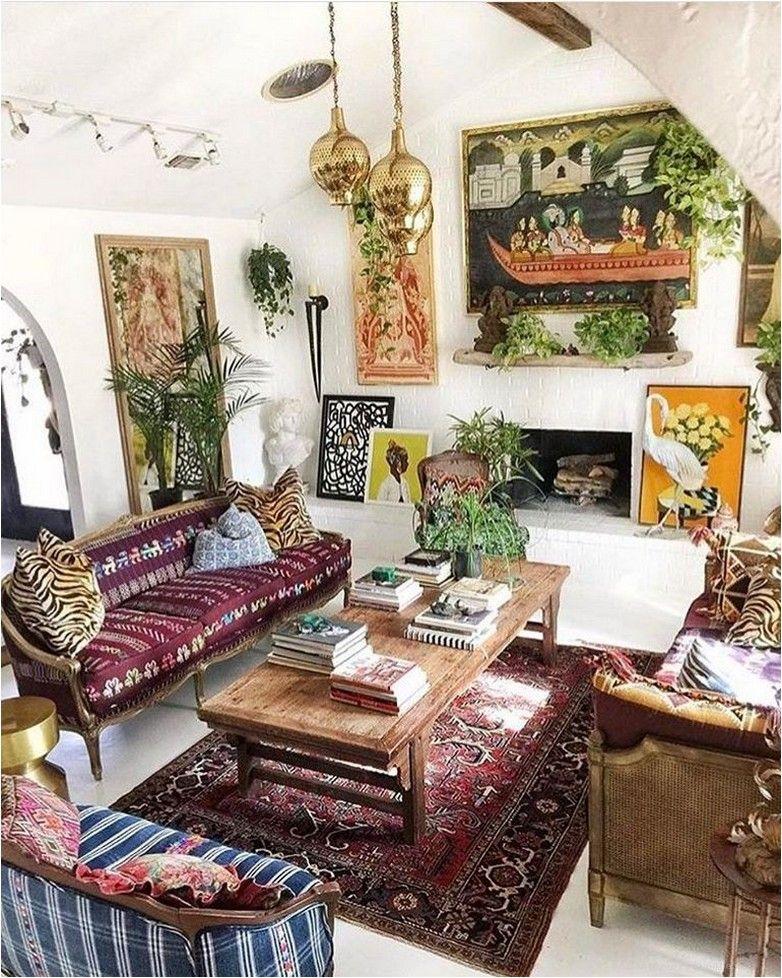 Small Boho Living Room: 188+ Small Spaces With Wonderful Maximalist Decorating