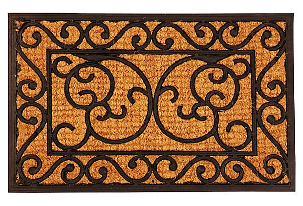 24 Rectangular Rubber Doormat On Onekingslane Com Door Mat Outdoor Door Mat