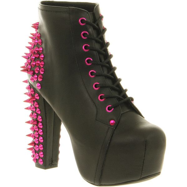 17949c59e9c Jeffrey Campbell Lita Platform Ankle Boot (£40) ❤ liked on Polyvore  featuring shoes