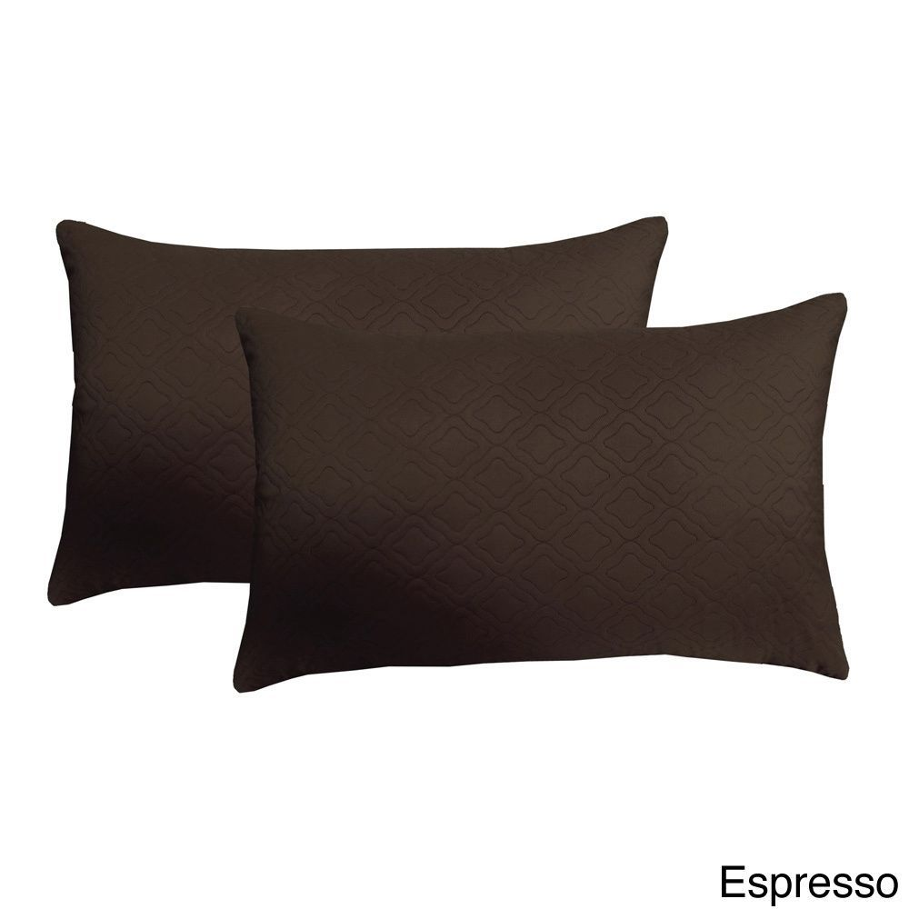 Edie Microfiber Sonic Quilted Florentine Pillow Set of Black