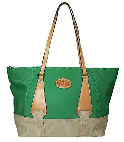 LA MARTINA (Martinez) Borsa Shopping Donna Tessuto Cerato Pelle Green  254.005 in OFFERTA su 7bbf3a9807b
