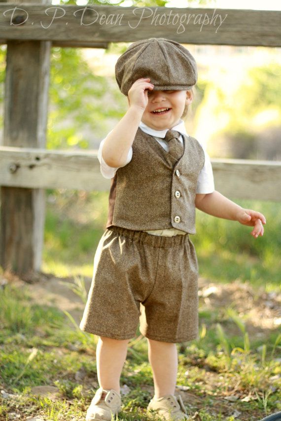 9e2c08780 4t Ring bearer outfit - Ready to ship - tweed - ring bearer - brown ring  bearer - wool vest - boys photo prop - boy prop - toddler outfit on Etsy,  $99.00