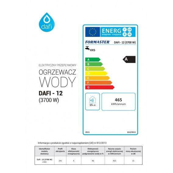 Elektryczny Przeplywowy Ogrzewacz Wody Dafi 3 7kw Cena Opinie Sklep Bricoman Pl Pie Chart Chart