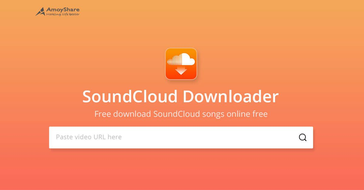 AmoyShare SoundCloud Music Downloader is an online tool that enables