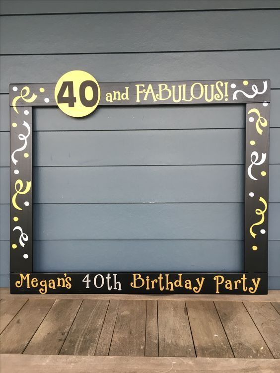 40th Birthday Photobooth - 50th Birthday Frame Prop - 60th Birthday Photo Booth - 75th Birthday Frame Prop #50thbirthdaypartydecorations