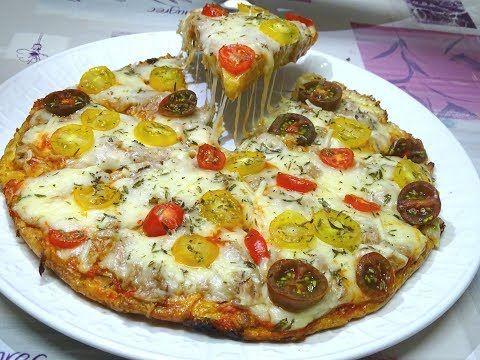 بيتزا بدون عجين بدون فرن في 10 دقائق لذيذة جداا وجبة عشاء سهلة و سريعة في 10 دقائق Youtube Food Cooking Vegetable Pizza