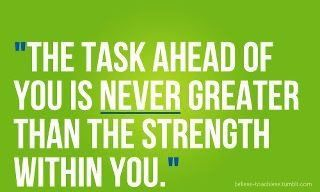 Find that inner strength!