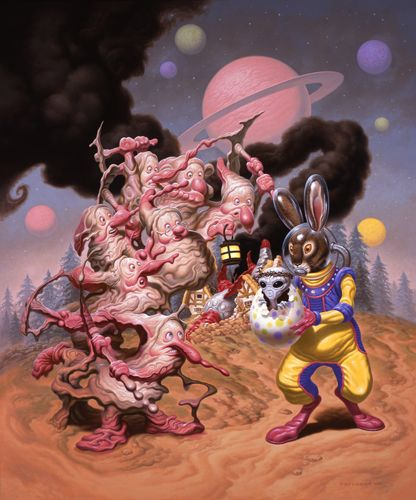 Painting by Todd Schorr, one of the modern Godfathers of Pop Surrealism!