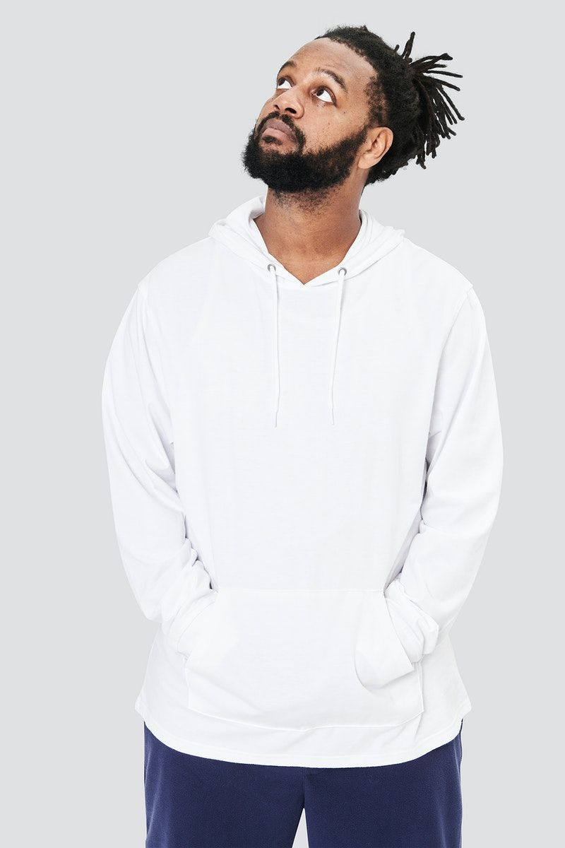 Download Download Premium Illustration Of Men S White Hoodie Mockup Psd Fashion Hoodie Mockup White Hoodie Men White Hoodie