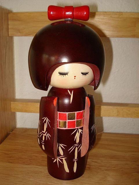 Brown Kokeshi Doll