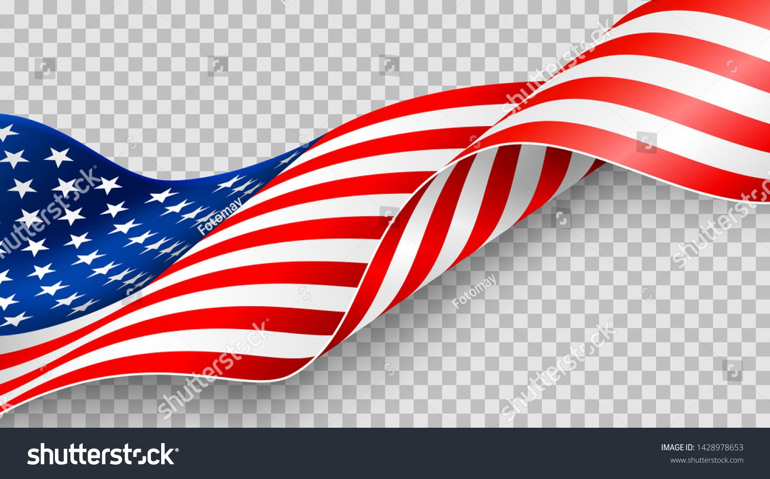American Flag On Transparent Background For 4t Of July Poster Template Usa Independence Day Celebration Usa 4th O American Flag Star Background Flag Background