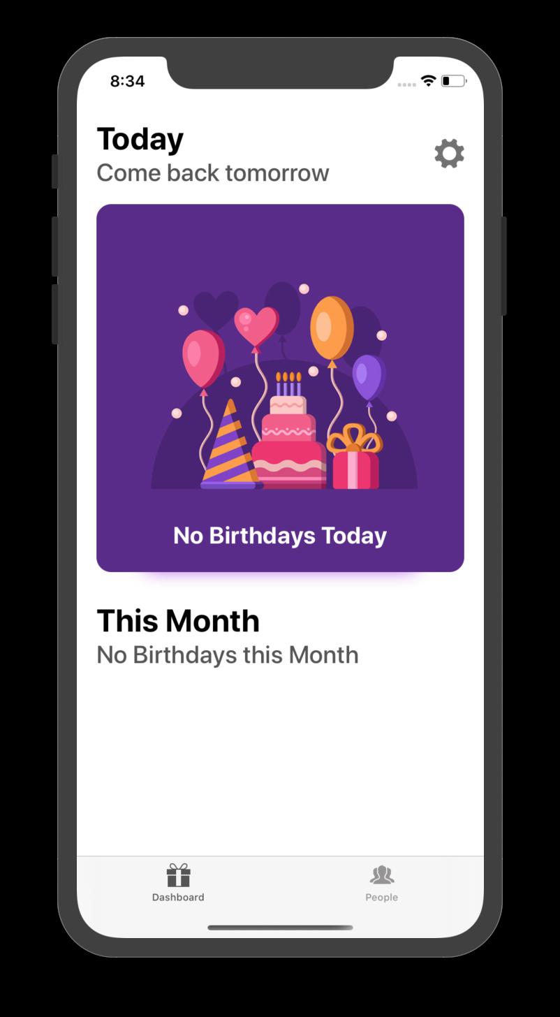 Birthday Prompt Best Birthday Reminder app for iOS