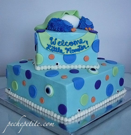 monster themed baby shower cake image Google Search Baby