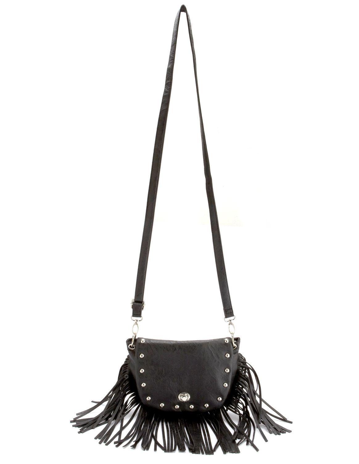 Charlotte Russe: Studded Fringe Cross-Body Bag