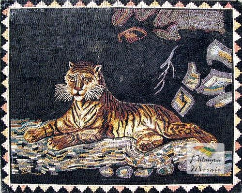 AN039 Marble Mosaic Wild Tiger Tile