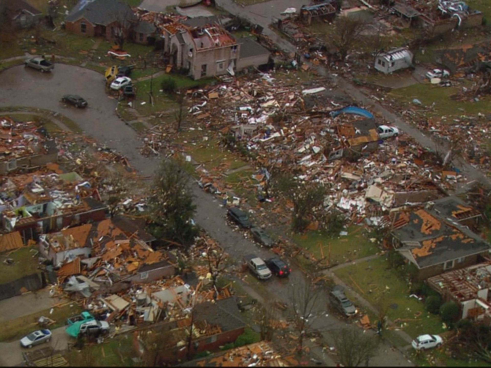 A tornado struck Garland and Rowlett on Saturday, Dec. 26