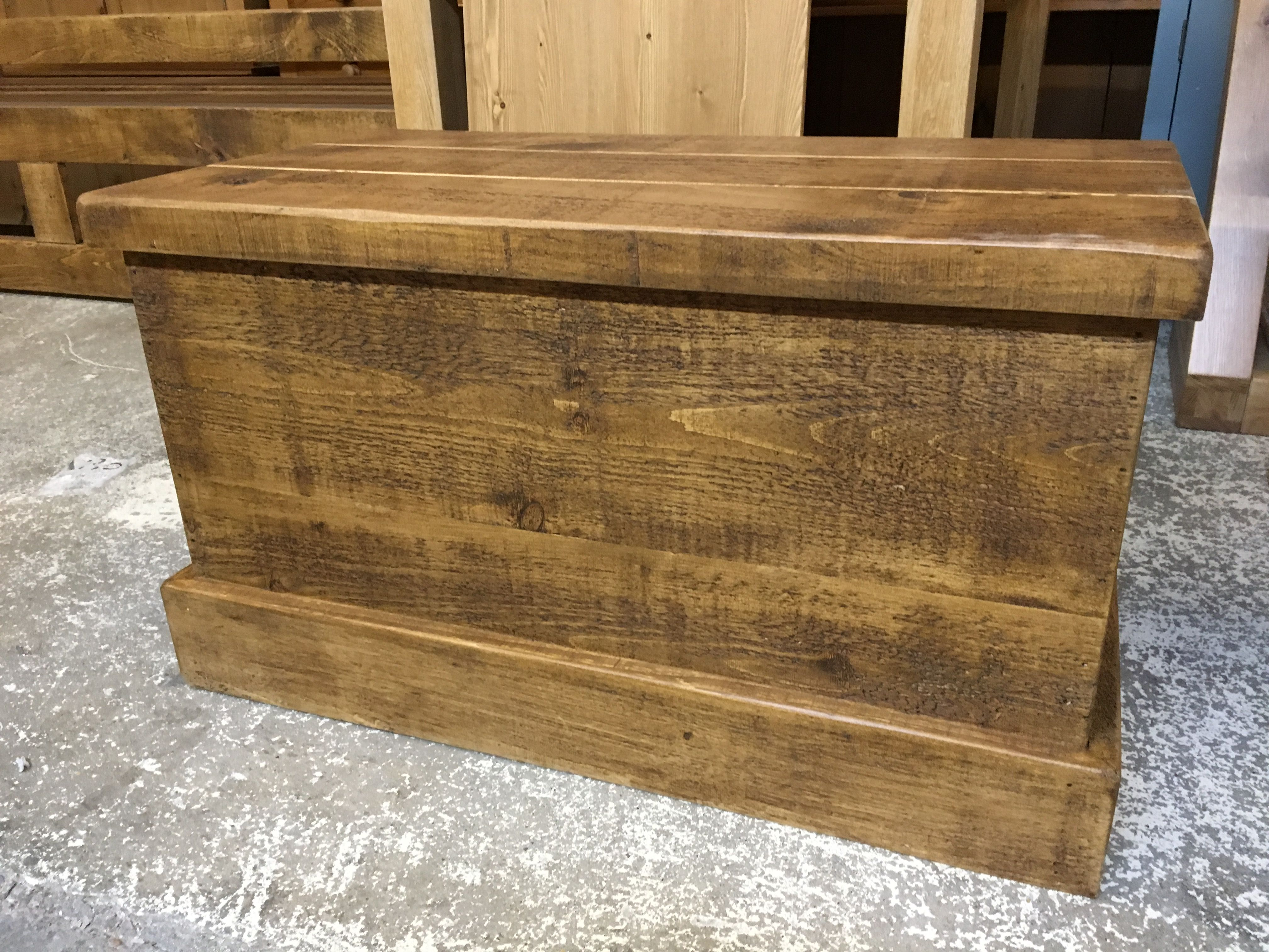 Rustic Plank Ottoman / Blanket Box Or Toy Chest. You Decide! Cobwebs  Furniture Company