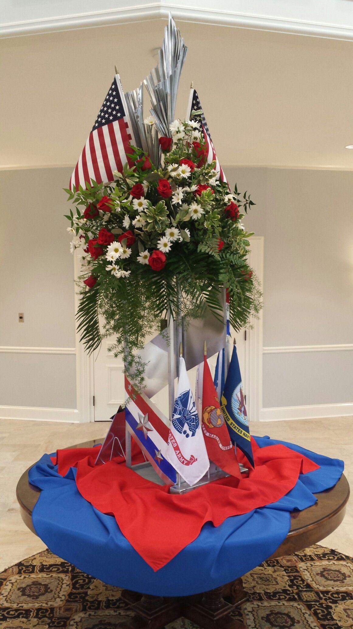 Church arrangement saluting veterans day veterans day