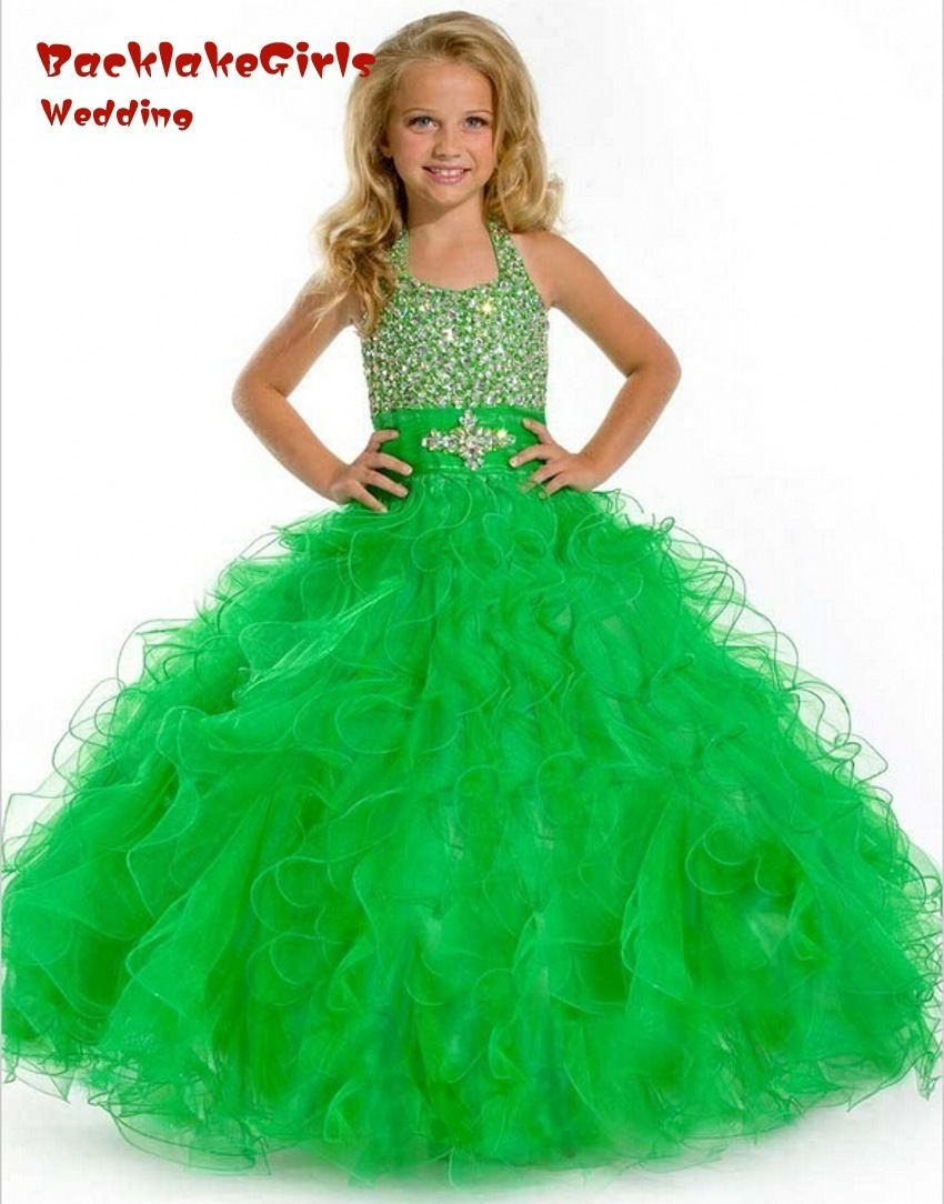 Click to buy ucuc comunion cute green flower girl weddings pageant