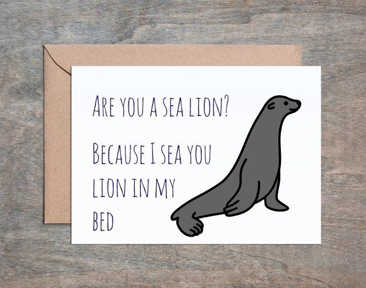Are You A Sea Lion Card Funny Anniversary Card Anniversary Card